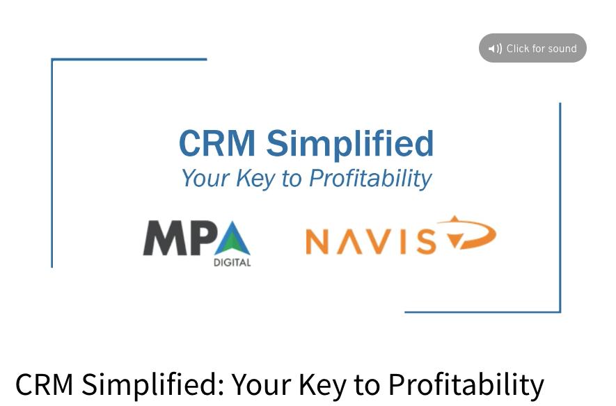 CRM Simplified Webinar Link.