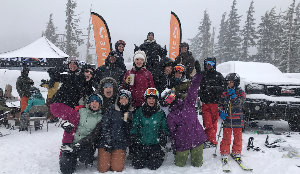 Powder Day with the whole NAVIS team.