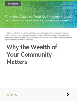 Why the Wealth of Your Community Matters