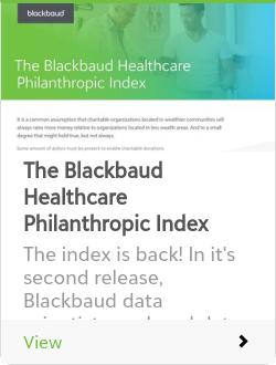 The Blackbaud Healthcare Philanthropic Index