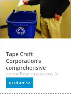 Tape Craft Corporation's comprehensive recycling program is dedicated to reducing its footprint