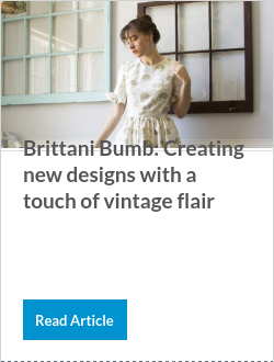 Brittani Bumb: Creating new designs with a touch of vintage flair