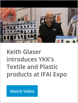 Keith Glaser introduces YKK's Textile and Plastic products at IFAI Expo