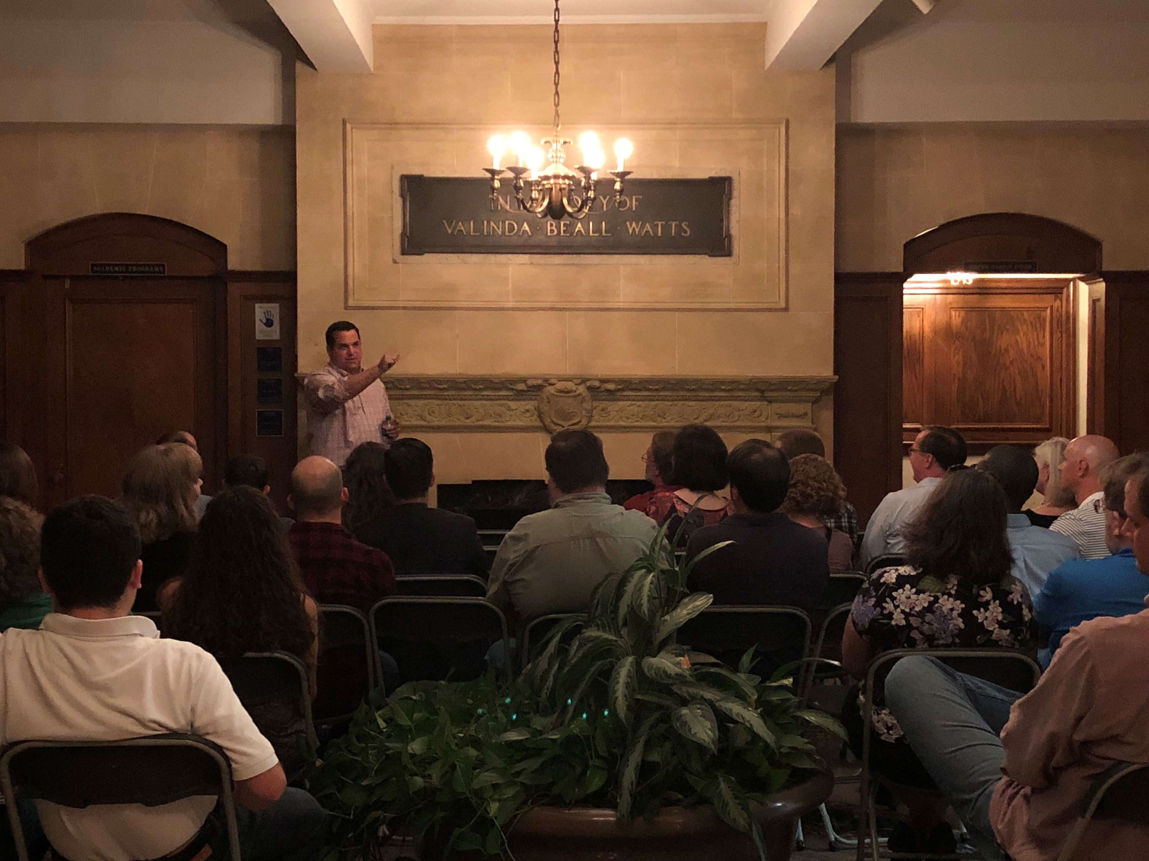 Carl Ryden speaking at the 2017 Alumni Weekend