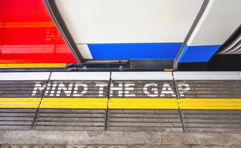Mind the Gap Sign London Subway