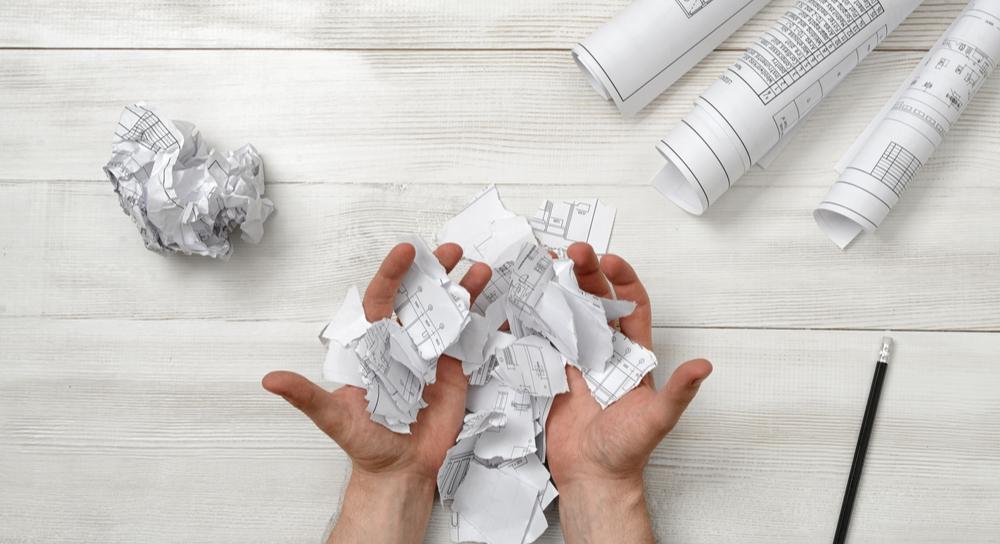 Design plans on paper
