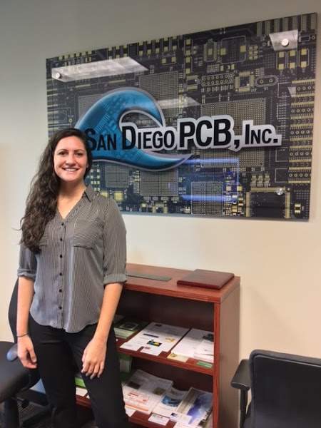 PCB Designer Nicole Pacino working on board design