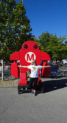 Judy at Makerfaire
