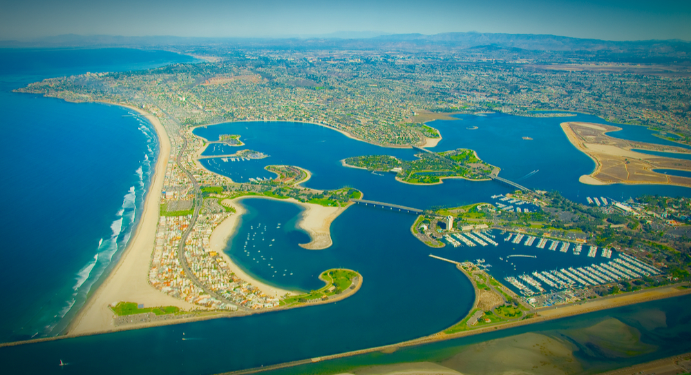 Mission Bay aerial view, the location of AltiumLive Summit 2017