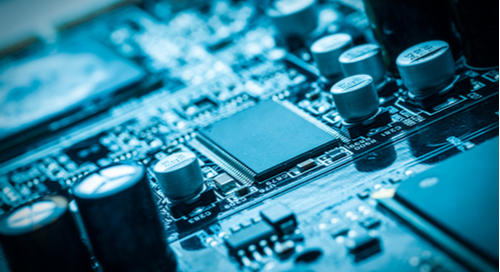 Close up picture of circuit board