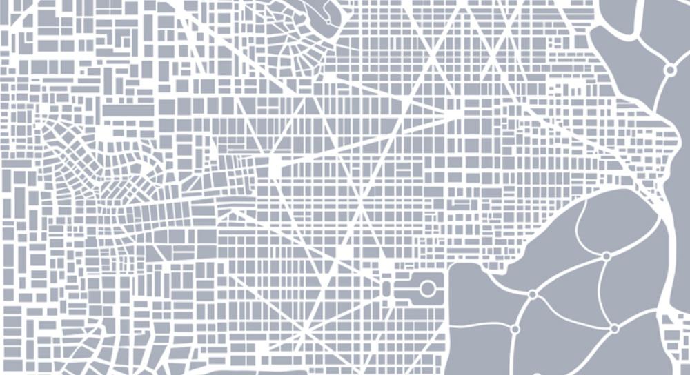 plano cartográfico de una ciudad
