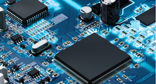 Close up picture of PCB