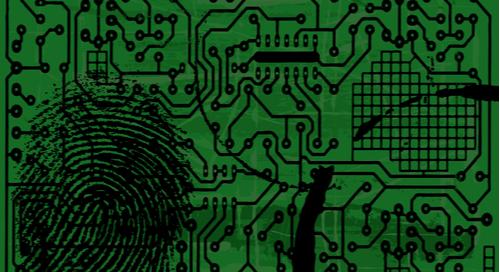 Fingerprint on a PCB mas
