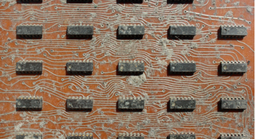 Contaminated PCB surface