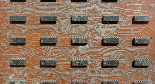 Contaminated PCB surface