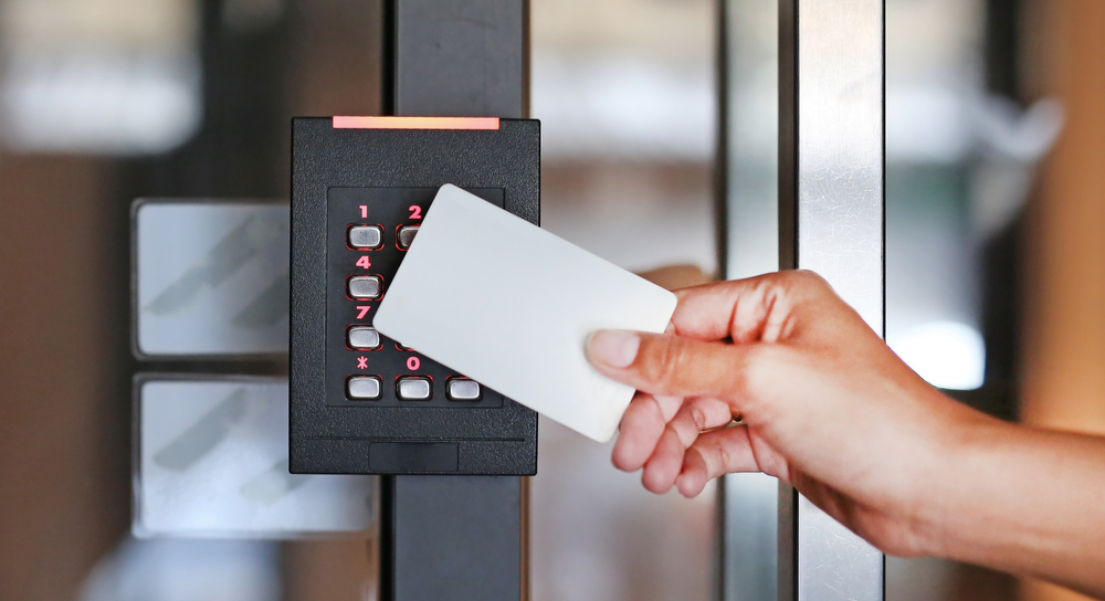 User Card Access System being used