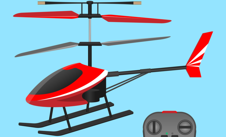 Picture of a remote control helicopter
