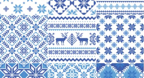 Fair Isle sweater patterns.