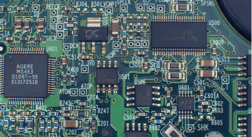Close up of  on a PCB