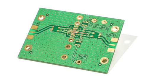 PCB picture with power and ground