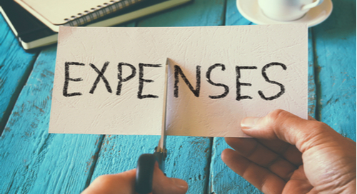 "Word ""Expenses"" being cut in half"