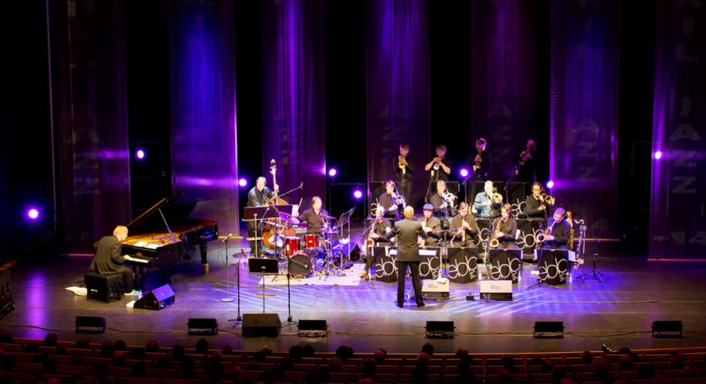 Picture of a jazz band on stage