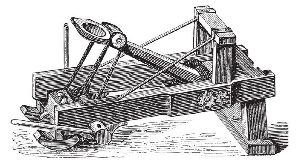 Catapult drawing.