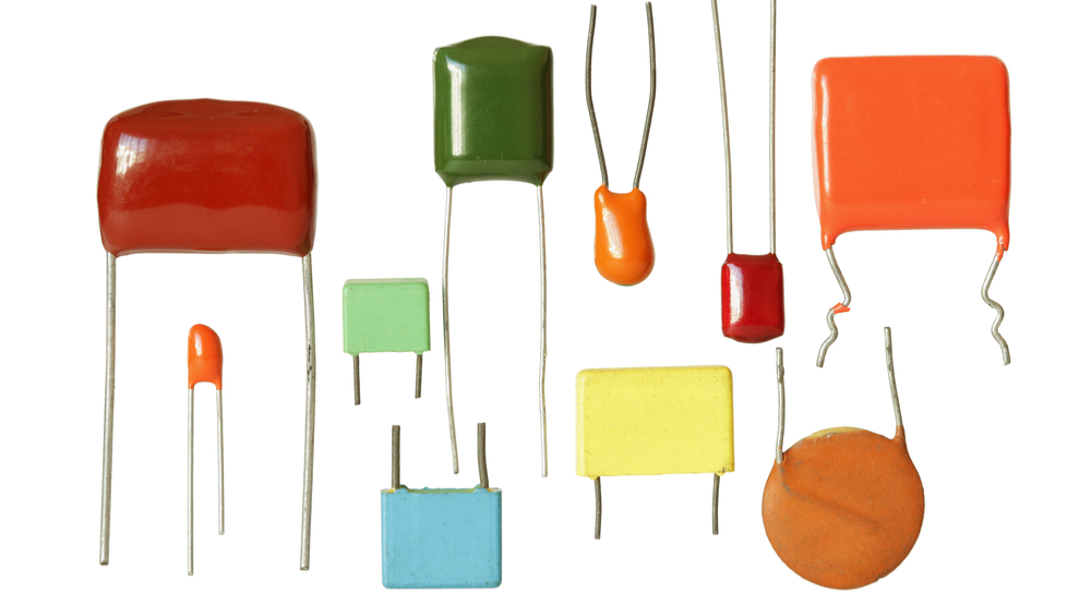 Picture of different types of capacitors