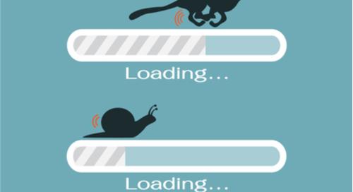 Fast and slow progress loading bar