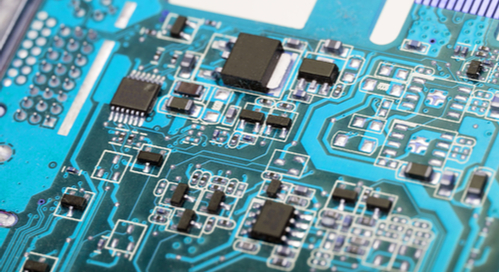 Picture of parts on a circuit board