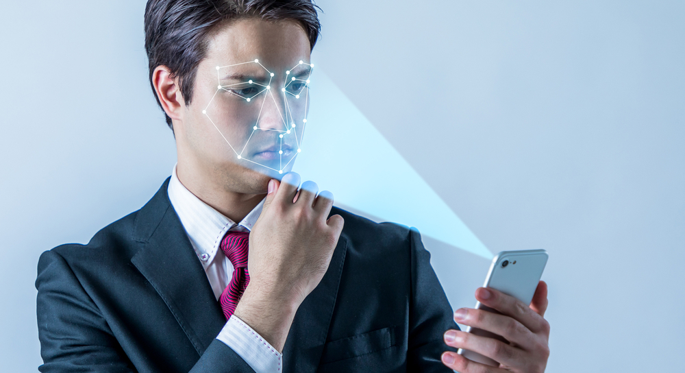 Facial recognition on a smartphone
