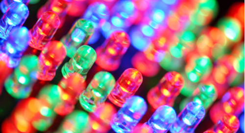LEDs of different colors