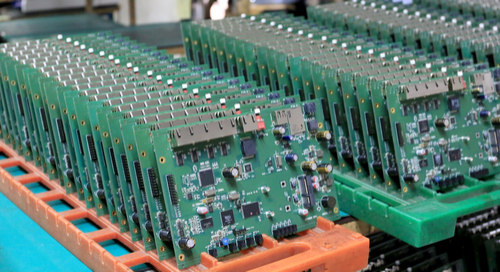 PCB assembly line picture