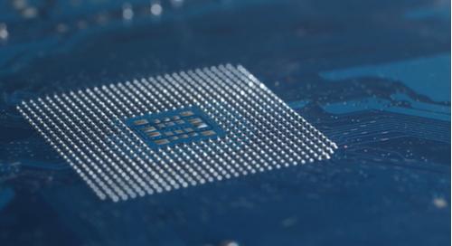 Solder balls for the socket of a CPU motherboard.