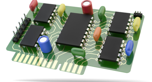 3D rendering of circuit board