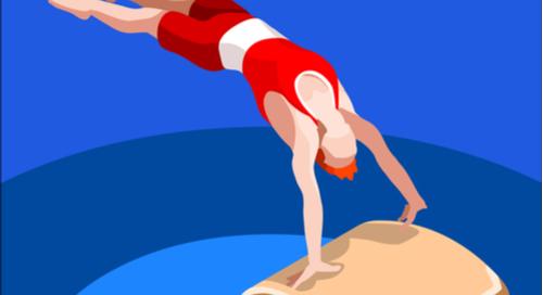 Gymnast on a vault