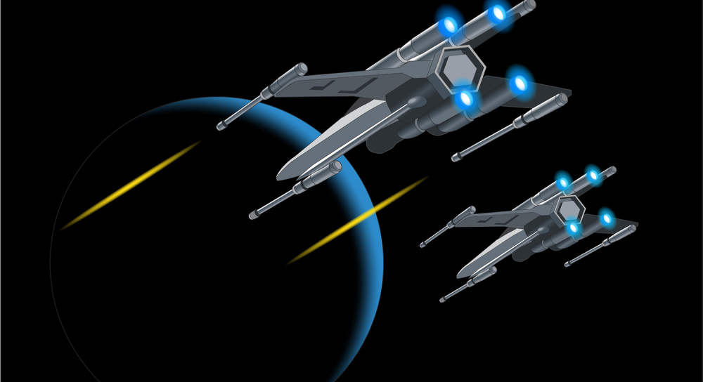 Der X-Wing-Fighter aus Star Wars