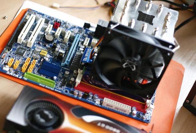 PCB component closeup