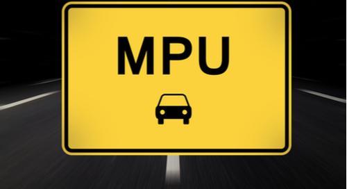 MPU on a traffic sign