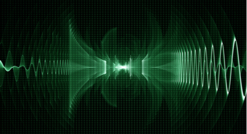 Sound wave on oscilloscope