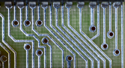 Close-up of PCB tracks