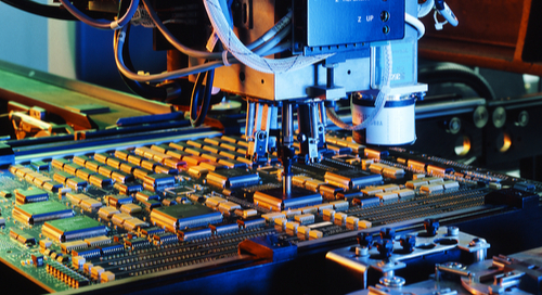 PCB manufacturing machine in color