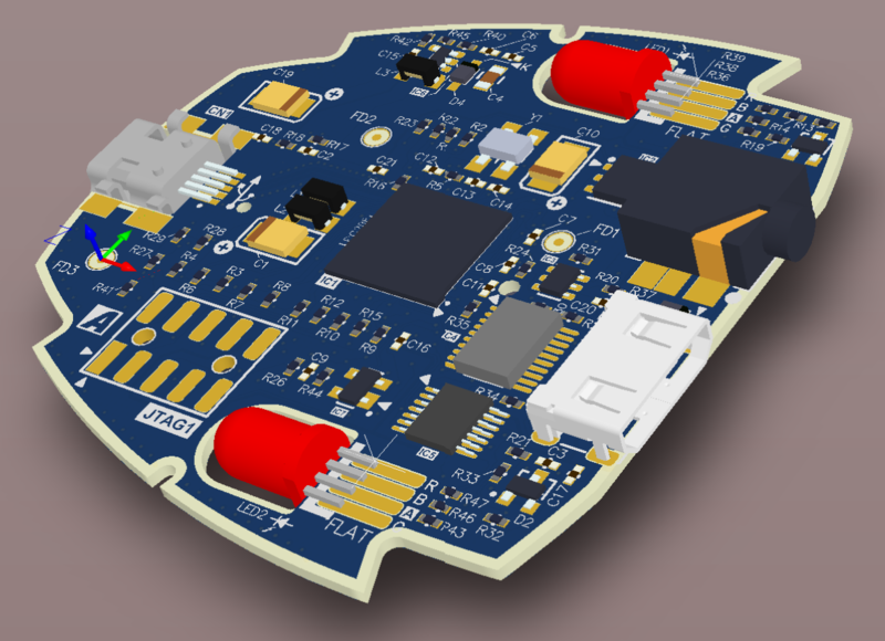 Picture of 3D PCB design from CAD system