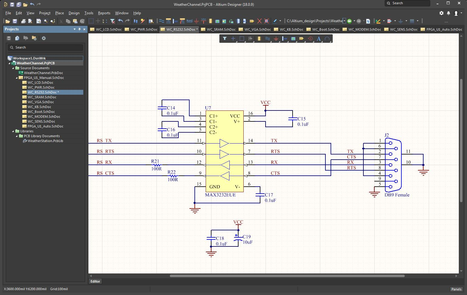 Picture of Altium 18's schematic capture application