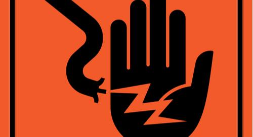 Señal de advertencia de descarga eléctrica