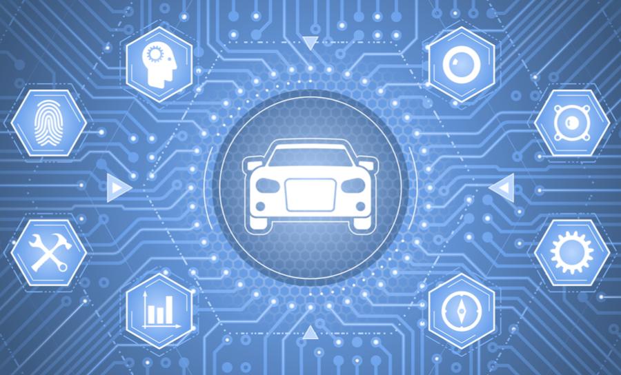 Interfaz de coche inteligente con seguridad y mantenimiento