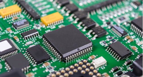 Picture of components on a circuit board