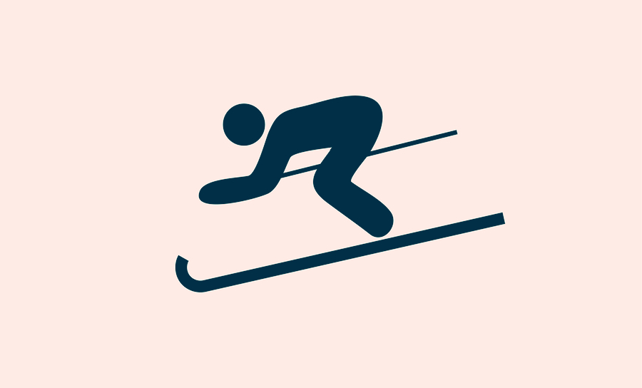 Vector image of skier