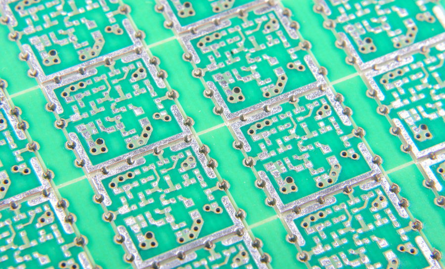 Panelized PCBs prepared for separation