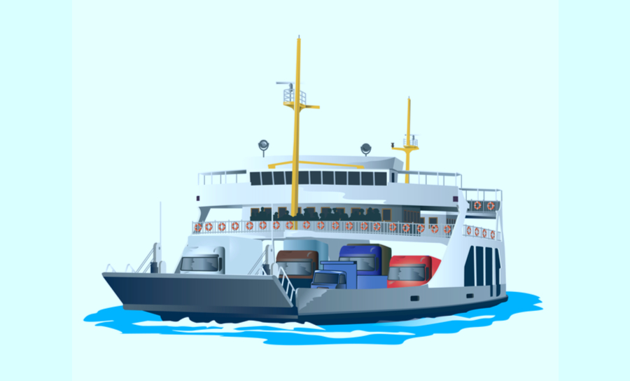 Picture of Ferry boat in water